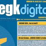 EGK Digitala 18, 2011ko apirileko buletina duzu jarraian!