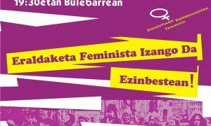 Martxoak 8: batu mobilizazioetara! - Euskadiko Gazteriaren Kontseilua