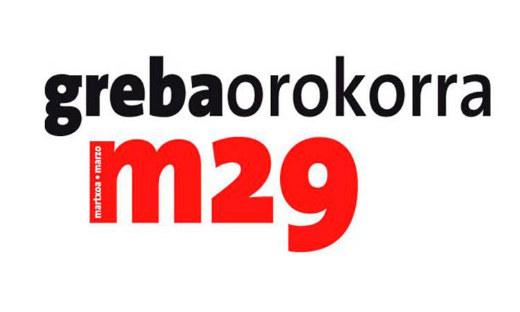 Manifestazioen-agenda. Martxoaren 29an, gazteok ere kalera! - Euskadiko Gazteriaren Kontseilua (EGK)