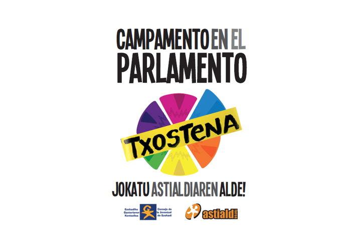 Campamento en el parlamento