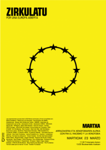 Gazteok ere, arrazakeriaren eta xenofobiaren aurkako martxan
