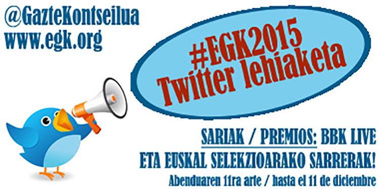 #EGK2015 Twitter lehiaketaren irabazleak ditugu