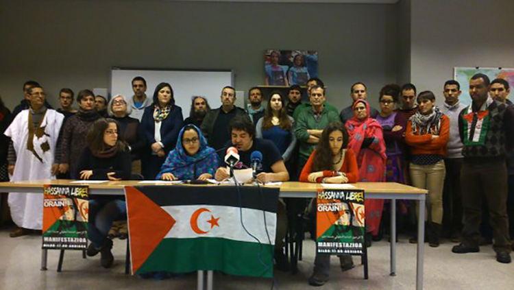 EGK-k Hassanna Aalia Saharako aktibista gazteari asilo politikoa emateko eskaera gogoratzen du