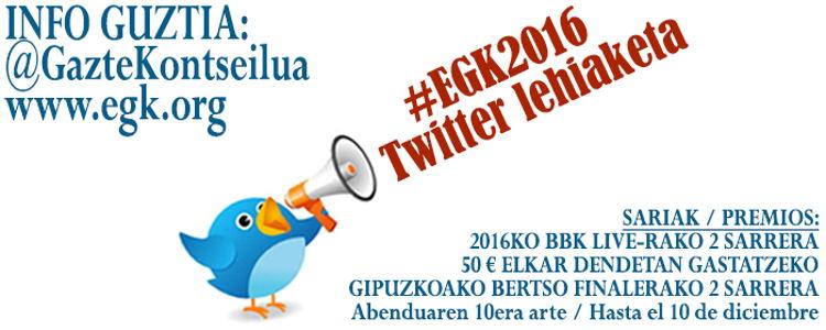 #EGK2016 Twitter lehiaketaren irabazleak