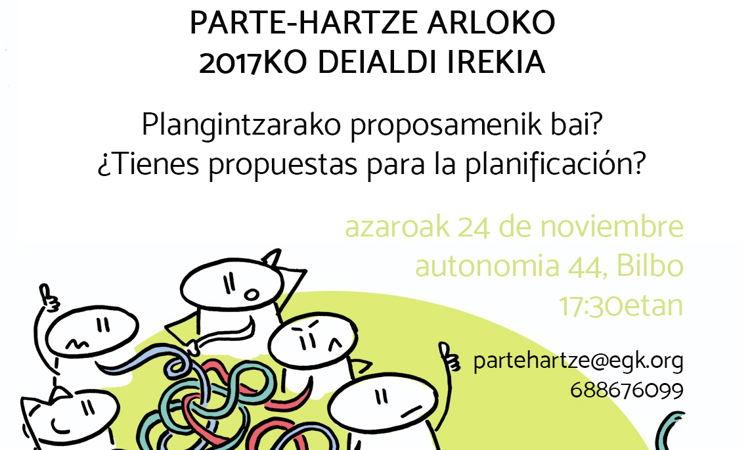 Parte-hartze lan-arloaren 2016ko ebaluazioa eta 2017ko plangintza