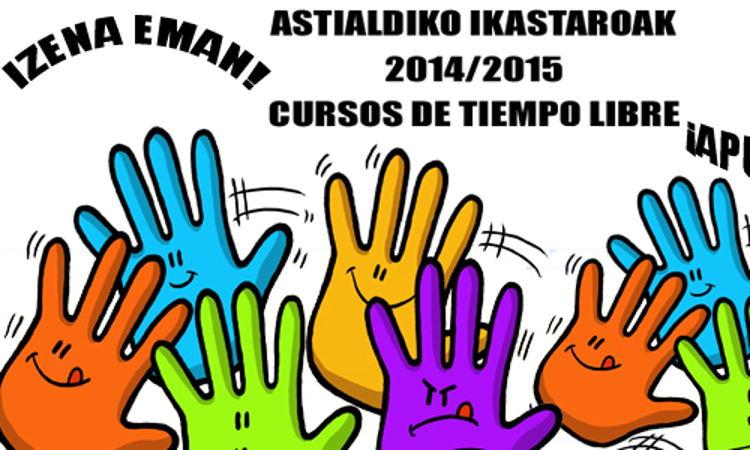 Euskal eskolek aisialdi hezitzaileko 40 ikastaro baino gehiago!