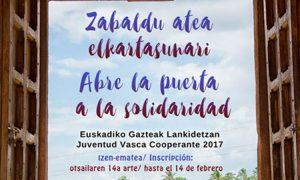 Euskadiko Gazteak Lankidetzan kartela