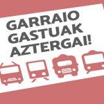 Garraio-gastuak aztergai txostena- Euskadiko Gazteriaren Kontseilua