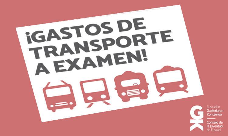 Informe Gastos de transporte a examen - Consejo de la Juventud de Euskadi