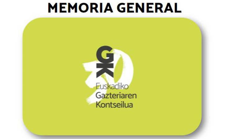Memoria general del Consejo de la Juventud de Euskadi