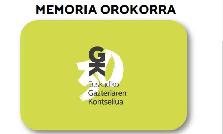 Euskadiko Gazteriaren Kontseiluaren memoria