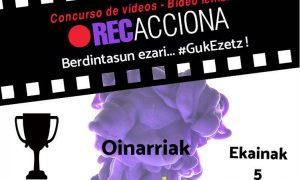 Berdintasun ezari #GukEzetz RECacciona bideo lehiaketa - Euskadiko Gazteriaren Kontseilua