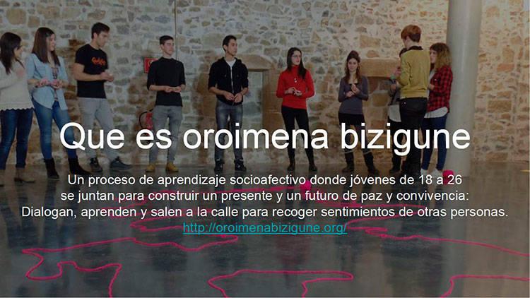 Proyecto Oroimena Bizigune en Hernani - Organizado por Ubiqa