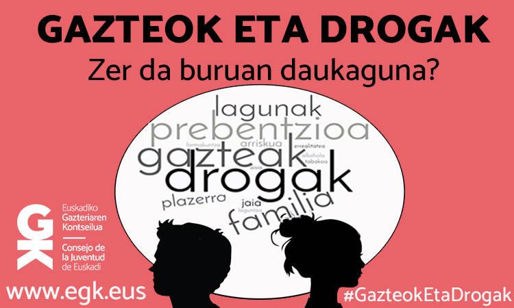 Gazteok eta drogak: Zer da buruan daukaguna? - Euskadiko Gazteriaren Kontseilua