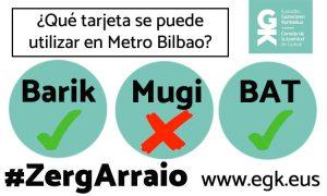 ¿Qué tarjeta se puede utilizar en Metro Bilbao?