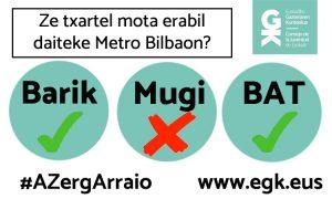Ze txratel mota erabil daiteke Metro Bilbaon?