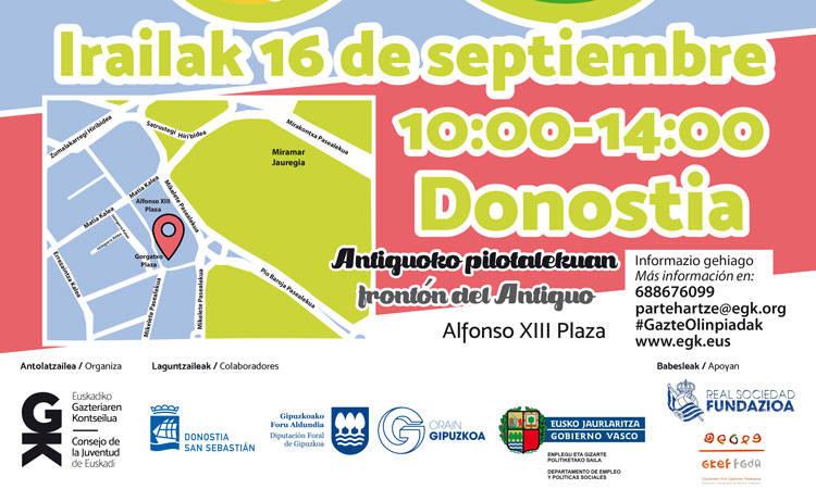 #GazteOlinpiadak 2017: kirola, parte-hartzea eta inklusioa Donostian