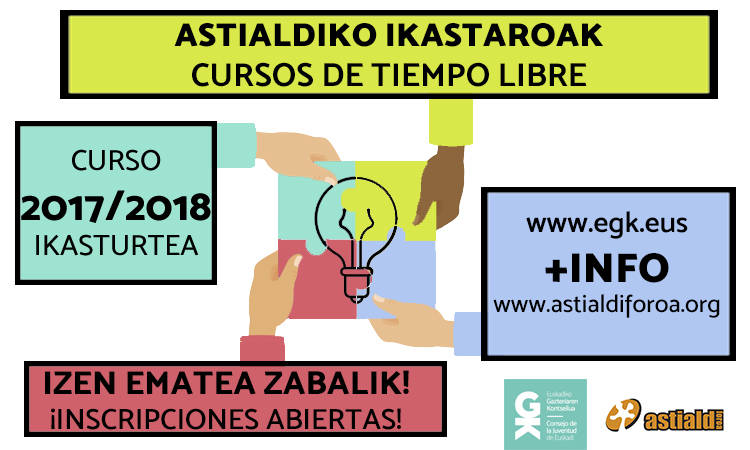 2017/2018 ikasturtea ikastaroz josita! - Euskadiko Gazteriaren Kontseilua