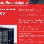 #EuroEmantzipatu jardunaldia Bilboko Dock gunean apirilaren 26an - Euskadiko Gazteriaren Kontseilua (EGK)