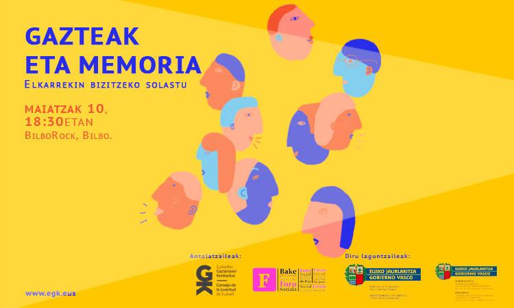Gazteak eta memoria saioa BilboRocken! - Euskadiko Gazteriaren Kontseilua (EGK)