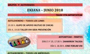 Aldarteren talde eta aktibitateak ekainerako - Agenda