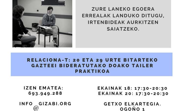 Relaciona-T kurtsoa Getxoko Elkartegian - Gizabi Elkartea