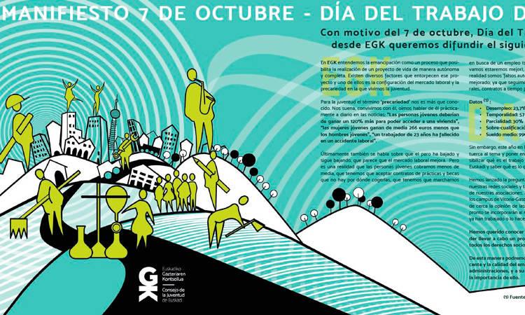 Manifiesto Trabajo Decente - Consejo de la Juventud de Euskadi