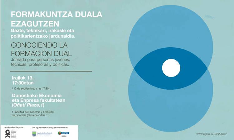 Zatoz #FormakuntzaDualaEzagutzen jardunaldira! - Euskadiko Gazteriaren Kontseilua (EGK)