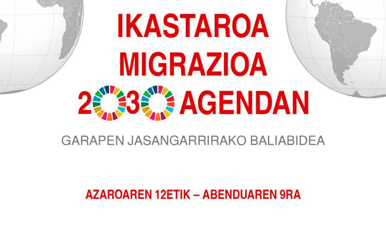 Migrazioa 2030 Agendan ikastaroa - Nazioarteko Elkartasuna