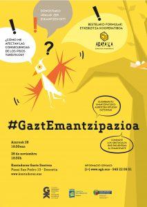 #GaztEmantzipazioa jardunaldiko kartelaren irudia