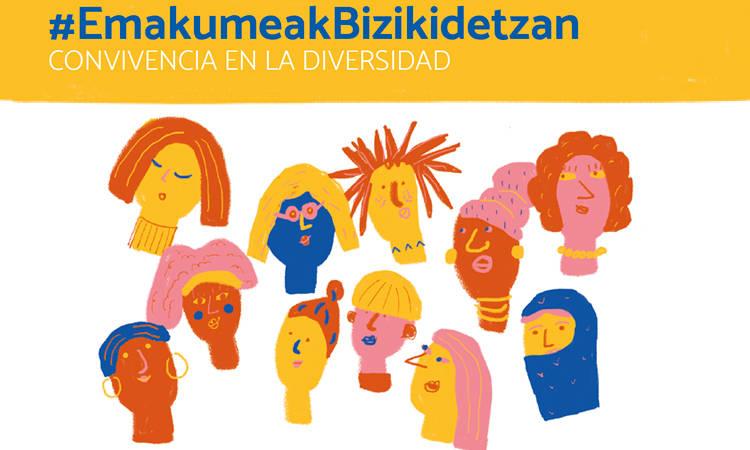 #EmakumeakBizikidetzan: convivencia en la diversidad - Consejo de la Juventud de Euskadi (EGK)