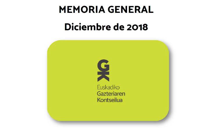 Memoria de 2018 - Consejo de la Juventud de Euskadi (EGK)