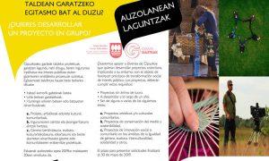 Auzolanean antolatutako gazteen proiektuentzako dirulaguntzak. Ayudas para proyectos de jóvenes organizados en auzolan (trabajos comunitarios)