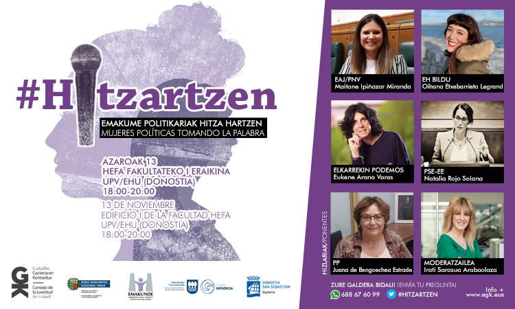 Hitzartzen: Emakume politikariak hitza hartzen. Hitzartzen: mujeres políticas tomando la palabra - Euskadiko Gazteriaren Kontseilua (EGK)