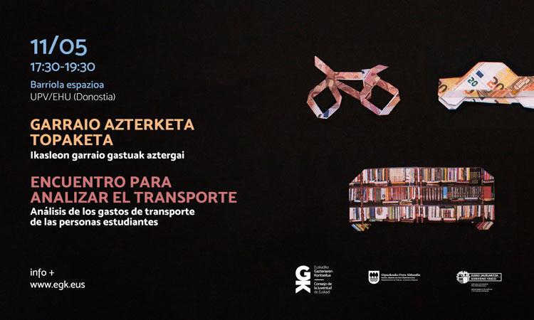 Zer eragin du egoerak EAEko ikasle batengan? la situación del transporte - Euskadiko Gazteriaren Kontseilua (EGK)