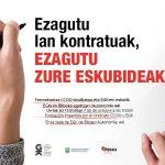 Ezagutu lan kontratuak, ezagutu zure eskubideak! Urriak 30. Conoce los contratos laborales, ¡conoce tus derechos! El 30 de octubre - Euskadiko Gazteriaren Kontseilua (EGK)