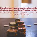 Soldata Arrakalarekin amaitzea aldarrikatzen dugu. Reivindicamos terminar con la brecha salarial - Euskadiko Gazteriaren Kontseilua (EGK)