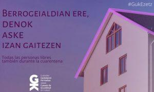 Berrogeialdian ere denok aske izan gaitezen. Todas las personas libres también durante la cuarentena - Euskadiko Gazteriaren Kontseilua (EGK)