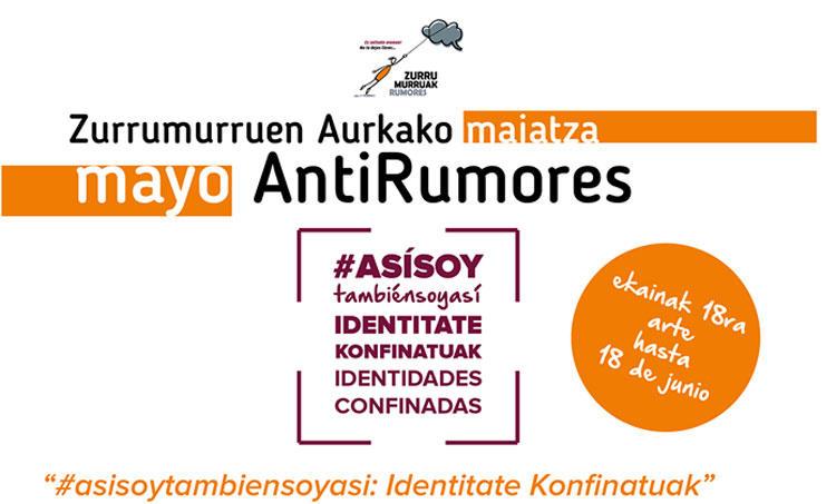 Identitate konfinatuak, Zurrumuruen Aurkako argazki lehiaketa. Identidades confinadas, concurso de fotografía AntiRumores