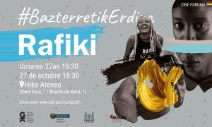 Rafiki proiekzioa urriaren 27an. Proyección de Rafiki el 27 de octubre #BazterretikErdira - EGK