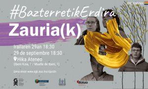 Zauriak dokumentala irailaren 29an Hika Ateneon #BazterretikErdira - Documental Zauriak el 29 de septiembre en Hika Ateneo. Euskadiko Gazteriaren Kontseilua (EGK)