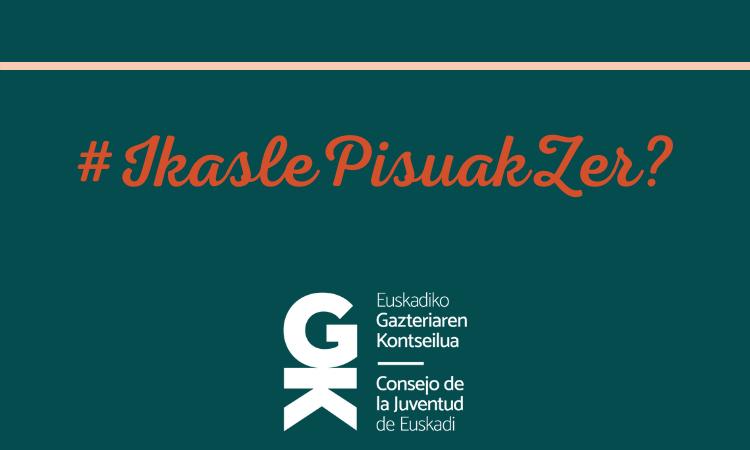 Ikasle pisuen gaia mahai gainera - Euskadiko Gazteriaren Kontseilua
