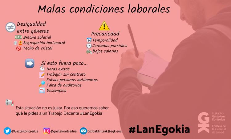¿Qué le pides a un puesto de trabajo? Cuéntanoslo en el hastag #LanEgokia - Consejo de la Juventud de Euskadi
