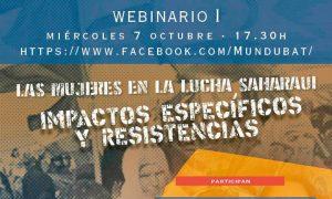 """Emakumeak Sahararen aldeko borrokan: eraginak eta erresistentziak' webinarra - Webinar """"Mujeres en la lucha saharaui: impactos específicos y resistencias"""""""