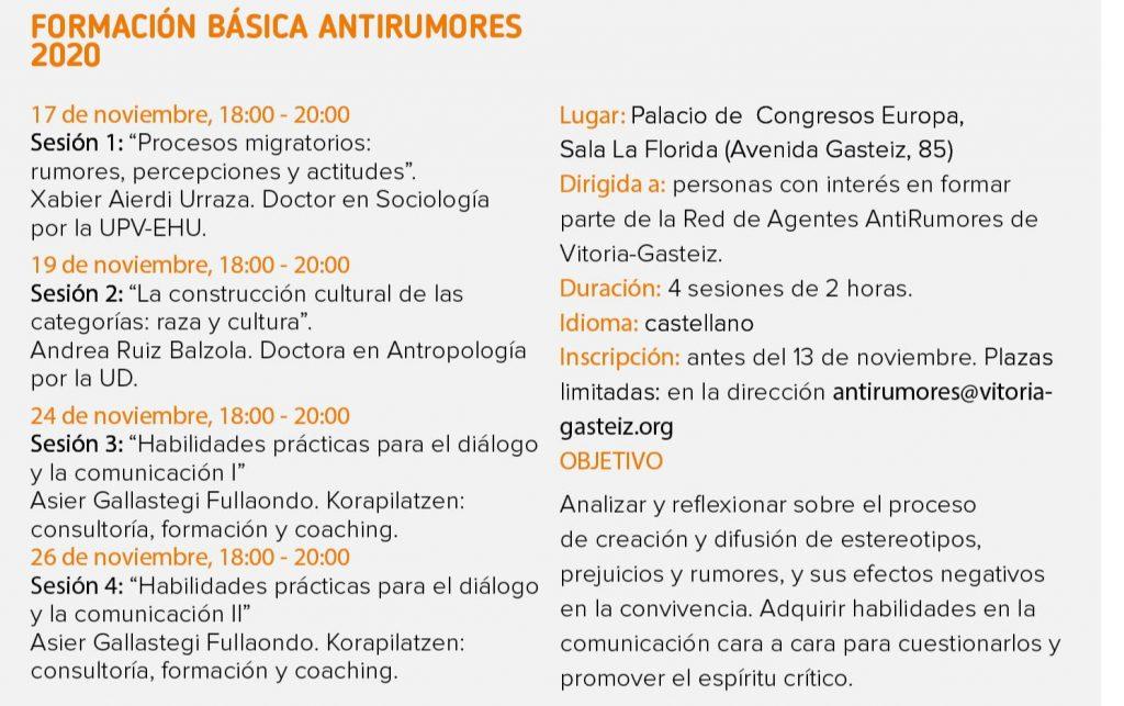 La Estrategia AntiRumores de Vitoria-Gasteiz en marcha