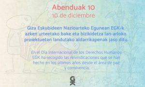 Giza Eskubideak EGKrenlanaren oinarri eta iparrorratz. Derechos Humanos, base y brújula del trabajo de EGK - Euskadiko Gazteriaren Kontseilua (EGK)