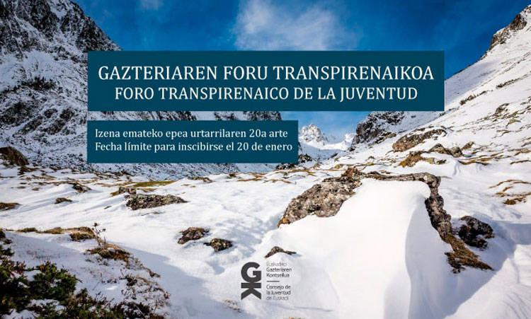 Gazteriaren Foru Transpirenaikoan parte hartzeko prest?