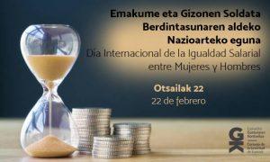 Día Internacional de la Igualdad Salarial entre mujeres y hombres